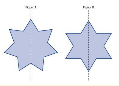 foto van symmetrieas